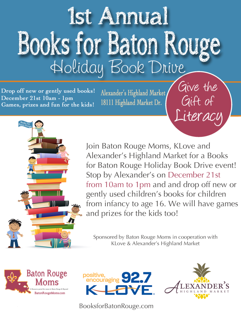 Books for Baton Rouge Holiday Book Drive