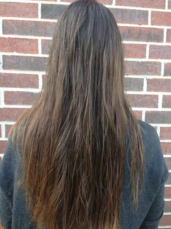 Jodi's outrageously long hair before her gluten free haircut