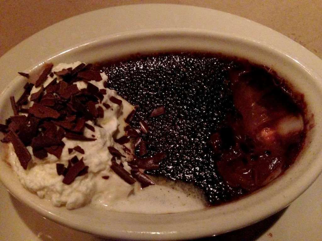 chocolate Creme Brulee from bonefish grill