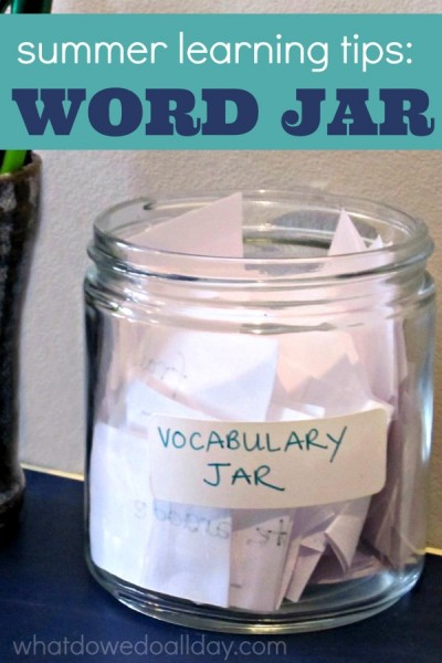 Summer Learning Word Jar