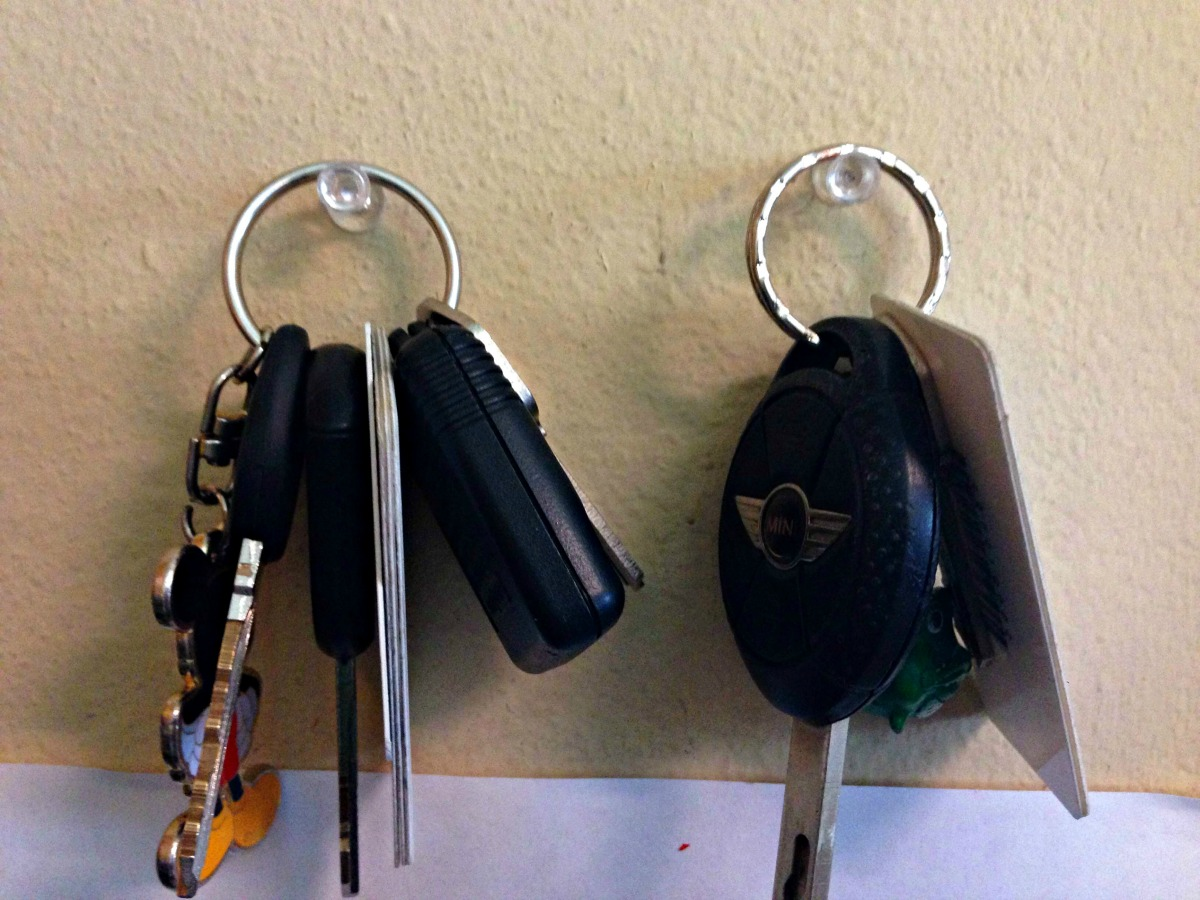 keep your keys where you can see them!!