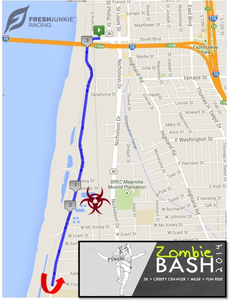 Route for the 5k