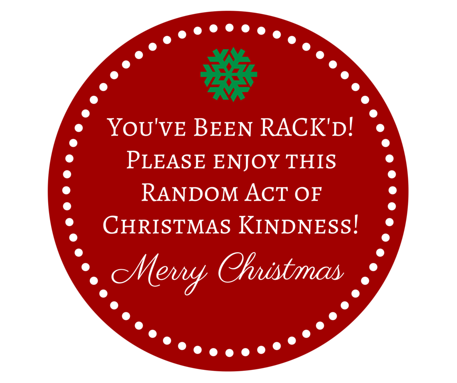 Rack random acts of christmas kindness small rack circle pronofoot35fo Image collections