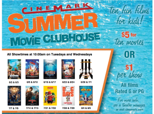Cinemark Summer Movie Clubhouse at Perkins Rowe