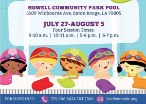 FREE Water Safety classes with Baton Rouge YMCA & BREC @ Howell Community Park Pool