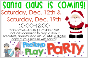 Santa Event @ Pretend Play Party @ Pretend Play Party | Denham Springs | Louisiana | United States