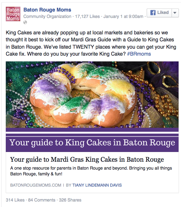 Best King Cake in Baton Rouge