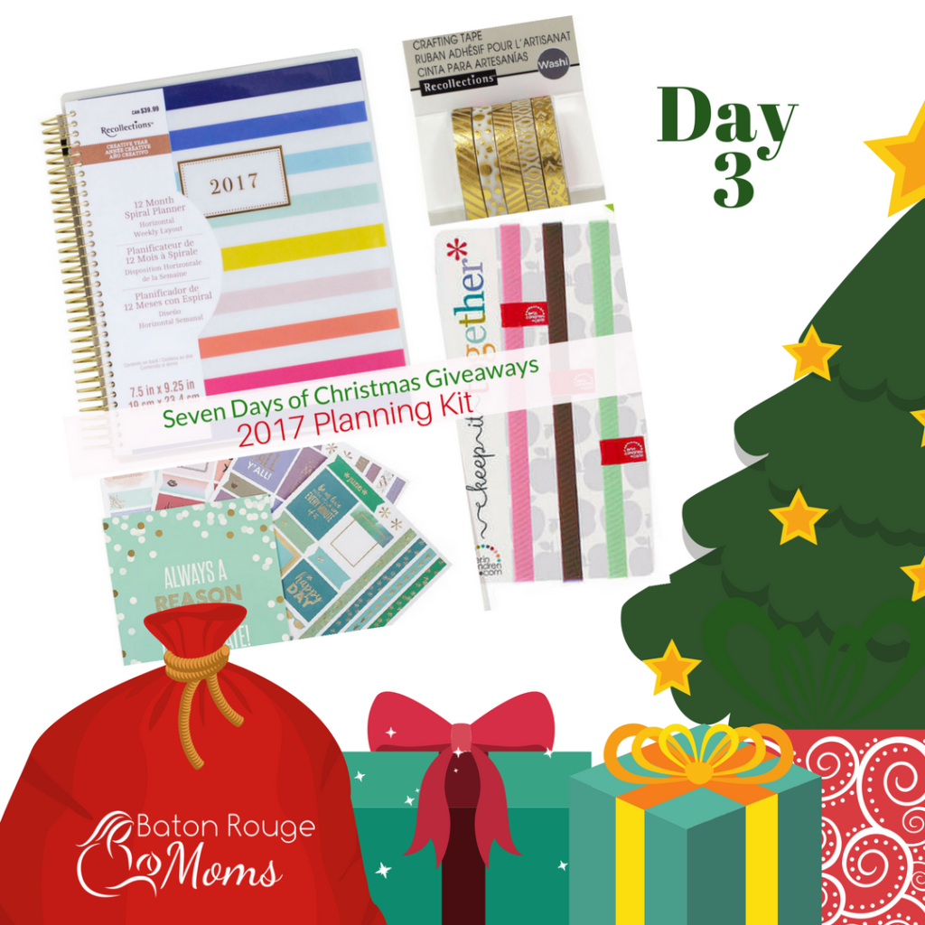 2017 Planning Kit - (Recollections Spiral Planner, Planning Sticker Book, Washi Tape, Planner bands and Pen and Pencil set.)